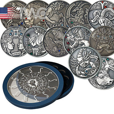 Belarus 2015 12x20 rubles Signs of the zodiac Antique finish Silver Set