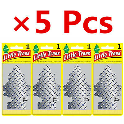 Pure Steel Wholesale Lot 5 Pcs of Little Trees Hanging Car & Home Air Freshener