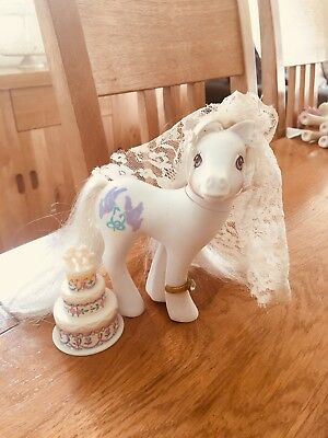 Vintage G1 My Little Pony Bridal Beauty With accessories