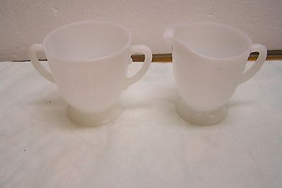 Depression Glass MacBeth Evans American Sweetheart Monax Sugar and Creamer