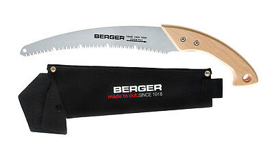 Berger Branch Saw with Beechwood Handle, Interchangeable Blade, 530mm, in Quiver
