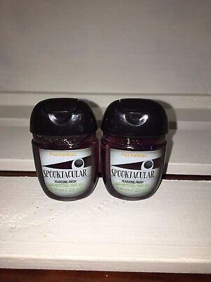 Bath & Body Works 2x Anti-Bacterial Hand Gel USA Spooktacular Fearsome Fresh