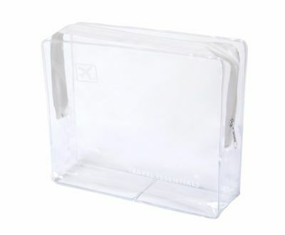 Holiday Travel Airline Airport Clear Toiletry Cosmetic Make Up Wash Bag - Medium