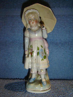 Antique Victorian Dresden Conta Boehem Child Figurine Superb  1840 Perfect Cond.