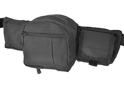 Mil-Tec Tactical Waist Bag FANNY PACK For Day Trips Travel Security Work Black