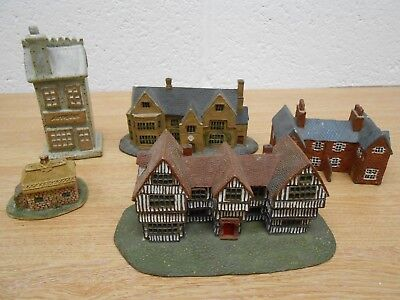 5x Miniature Cottages - two by Heritage Houses includes Tudor House, Hawkswood