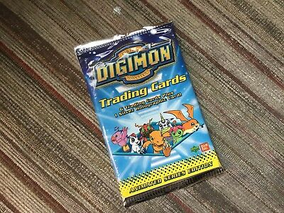 Digimon Digital Monsters Trading Cards Sealed Pack Of 7 Animated Series Edition