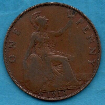 1918 KN PENNY. KINGS NORTON MINT. 1d COIN.