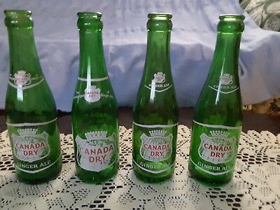 Vintage Green ACL Bottle Canada Dry Ginger Ale