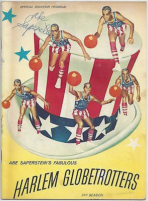 Abe Saperstein autographed Harlem Globetrotters Magazine autograph auto HOF