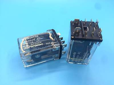 HG2-AC200V Electromechanical Relay 20A 200VAC 8 Pins x 2pcs