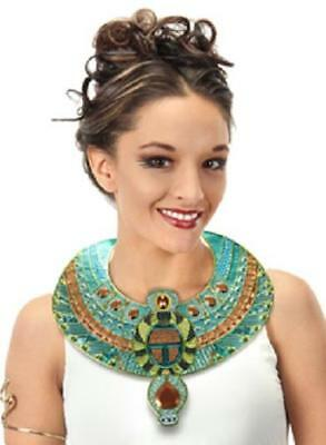 EGYPTIAN New CLEOPATRA COLLAR Necklace COSTUME Prop Gold Pharaoh HALLOWEEN Egypt