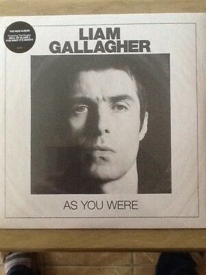 liam gallagher as you were limited white vinyl lp, OASIS, new and sealed