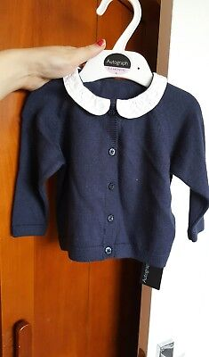 Baby girls autograph M&S navy cardigan 3-6 months