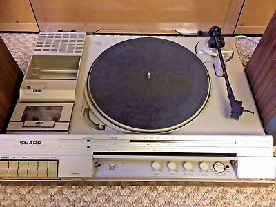 Sharp Sg-170E Music Center - Record Player / Tuner / With Speakers