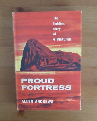 old GIBRALTAR IN WW2 BOOK andrews COLLECTORS CONDITION