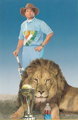 SACHIN TENDULKAR colour postcard (Bombay) India, Yorkshire C.C.C.