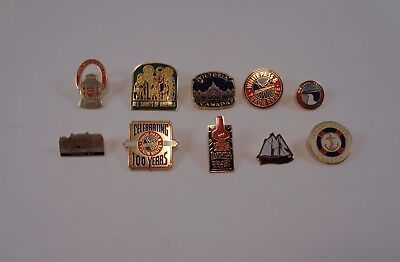 LOT of 10 Collectable PINS Alaska Canada Travel USA Railroad Yukon Route