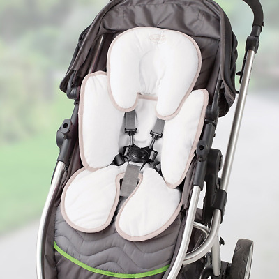 Infant Snuzzler Baby Head and Body Support Pillow Car Seat Stroller Cotton Ivory