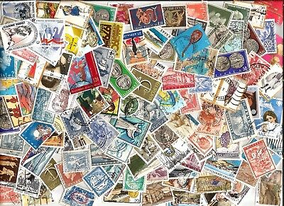 200  GREECE     STAMPS selection kiloware 200 different off paper good used