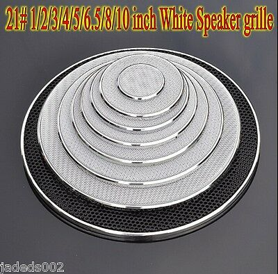 1pcs 21# 1/2/3/4/5/6.5/8/10 inch White Speaker grille car horn decorative circle