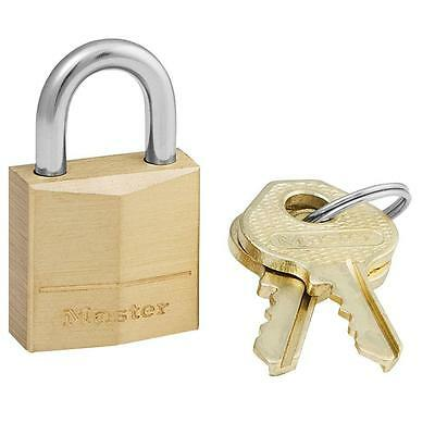 2 Pack's of Master Lock 3/4 in. Solid Brass Padlock Model # 120KAD