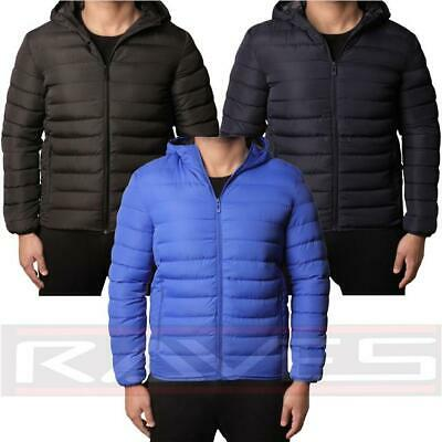 Boys D-Project Jacket Coat Padded Bubble Puffer Hooded Lined Contrast Winter