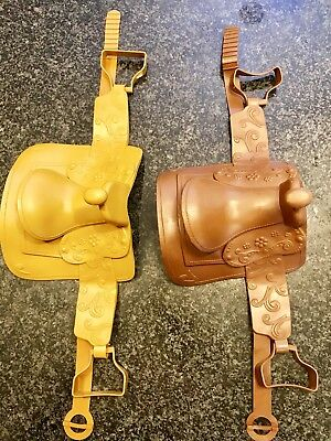 2 Toy Horse Saddles (Paradise Kids) American Girl Compatible