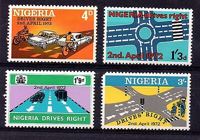 Nigeria (1426) 1972 Change to Driving on the Right  set Lightly mounted sg273-6