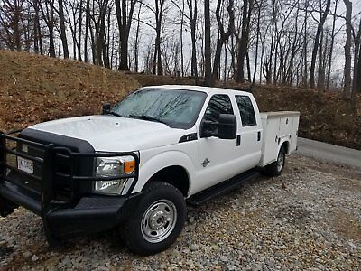 2012 Ford F-250 xl 2012 Ford F250 6.7 diesel Crew cab 4x4 8 foot utility contractors box runs well