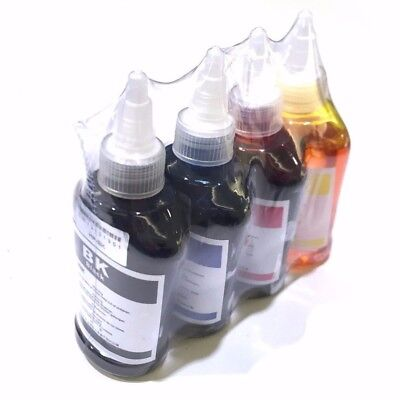 4 x 100 ml 4 colors Refill Ink for HP Canon Inkjet Dell Brother Printer