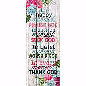 Wall Decor-Pallet-In Happy Moments (10.5 x 26)