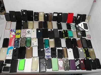 Job Lot Bundle Bulk Buy Car Boot Phone & Smart Phone Cases Covers Used 100+ Unit
