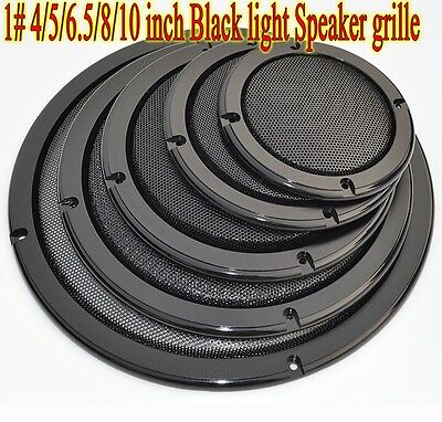 1pcs 1# 4/5/6.5/8/10 inch Black Speaker grille Car Subwoofer Masks Dust iron net