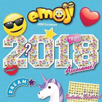Emoji Official 2018 Square Wall Calendar