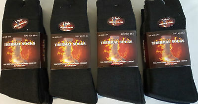 3 Pairs Pack Men's Thick Thermal Trainer Boots Socks Winter Warm 6-11 Uk