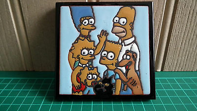 The Simpsons Handcrafted Hanging Wall Tile - Excellent Condition