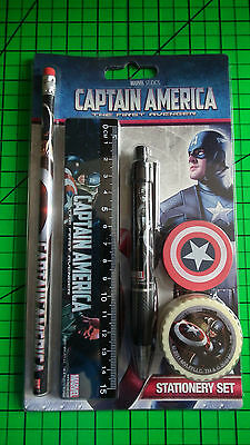 Marvel Studios Captain America: The First Avenger Stationery Set - BNIP!