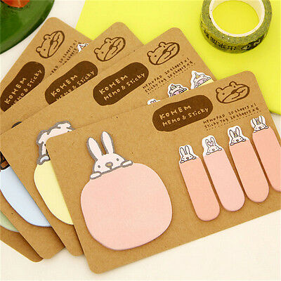 Animal Bunny Rabbit Pig Bear Sheep Sticky Note Index Flag Sticker Memo WZC