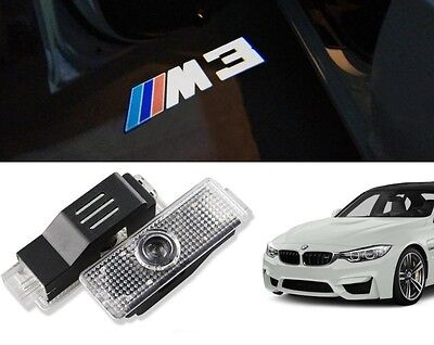 Bmw M3 Logo Led Puddle Projector Ghost Shadow Door Lights F30 E90 E92 E93
