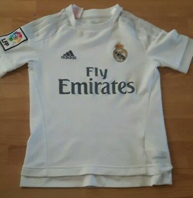 Real Madrid adidas football shirt 9-10years.