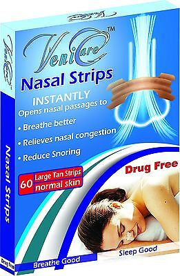 VeniCare NASAL STRIPS Reduce Snoring Right Now Relieves 120 pcs Large