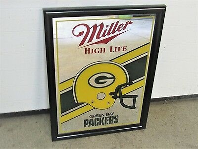 MILLER High Life vintage GREEN BAY PACKERS wall mirror