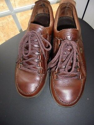 Men's Lomer Leather Brown walking shoes - UK 8 - EU 42 - Hand made in Italy.