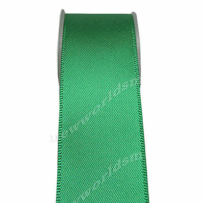 "5y 50mm 2"" Fern Green Premium Single Faced Wide Heavy Satin Ribbon Eco FREE PP"