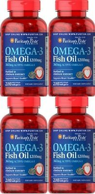 4 OMEGA 3 1200 MGR. 200 CAPSULES ( protection cardivascular )