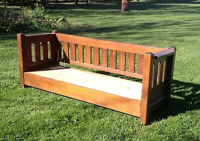 Antique Mission Style Arts & Craft Bench Sofa Size