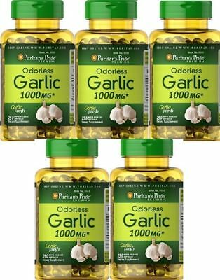 5 Ail 1000 mgr. 250 cap. antibiotique naturel, Garlic