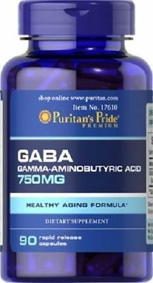 GABA 750 mg relaxation système nerveux 90 capsules