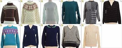 JOB LOT OF 11 VINTAGE WOMEN'S KNITS  - Mix of Era's, styles and sizes (20822)